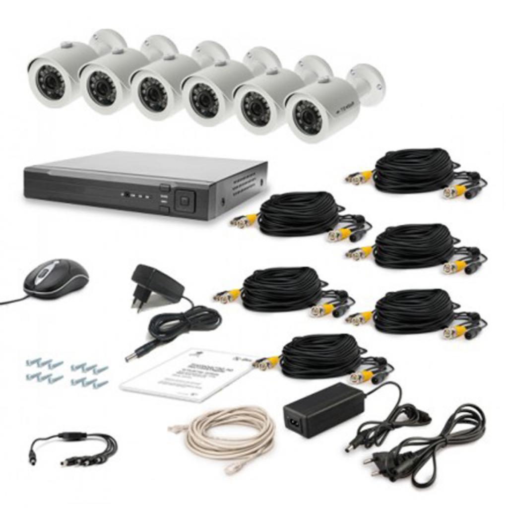 Комплект видеонаблюдения Tecsar AHD 6OUT LUX (6645)