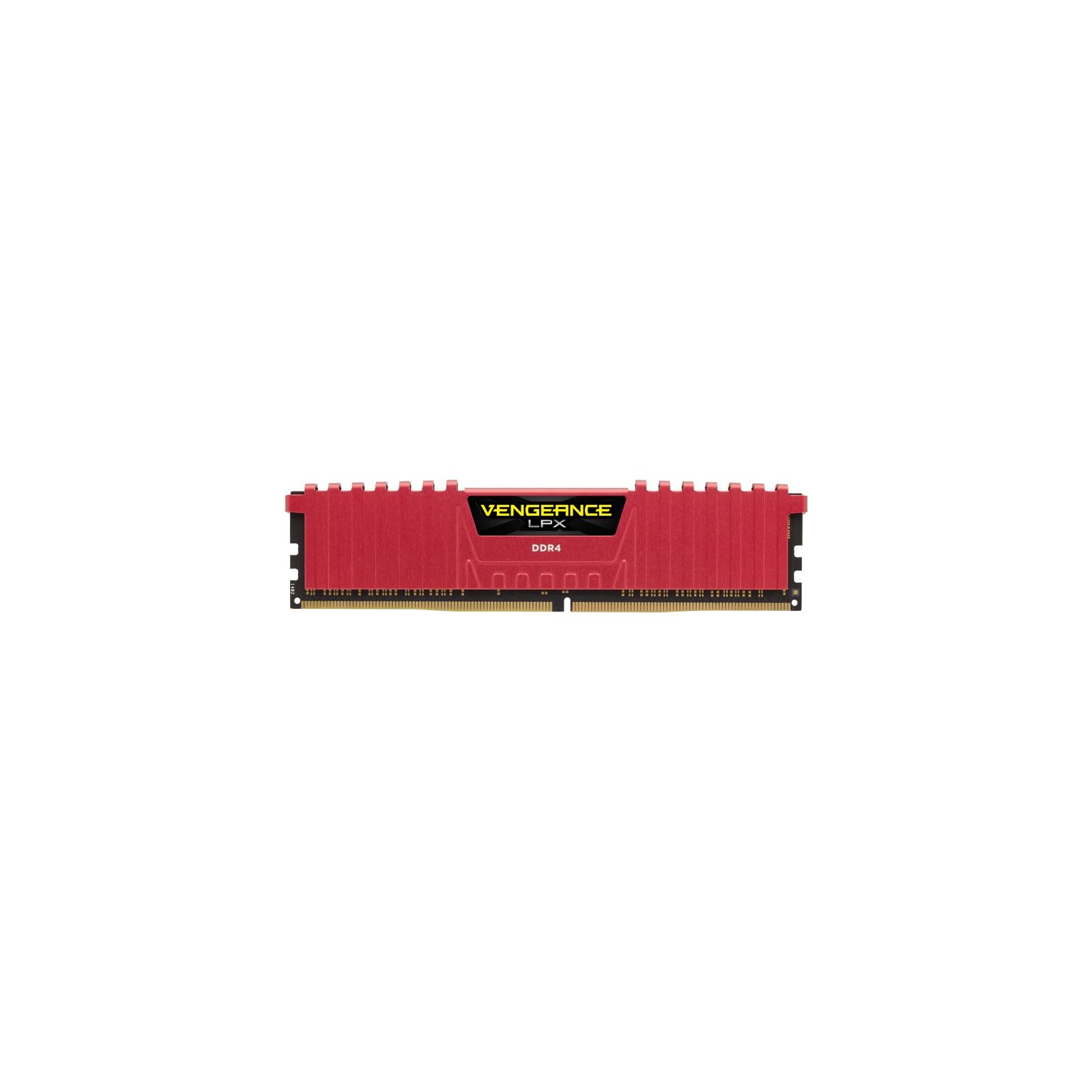 Модуль памяти для компьютера DDR4 4GB 2400 MHz Vengeance LPX Red CORSAIR (CMK4GX4M1A2400C14R)