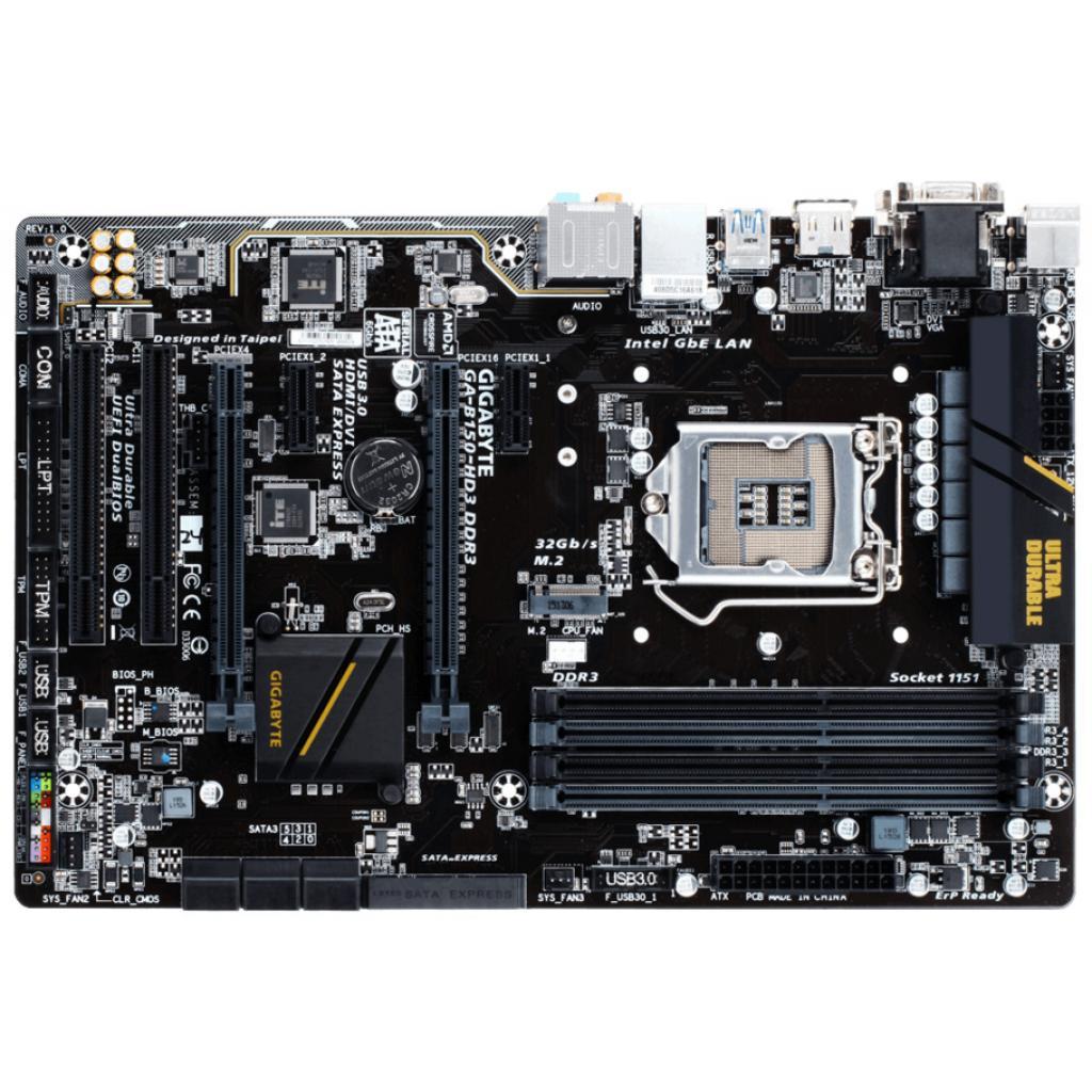 Материнская плата GIGABYTE GA-B150-HD3 DDR3 изображение 2