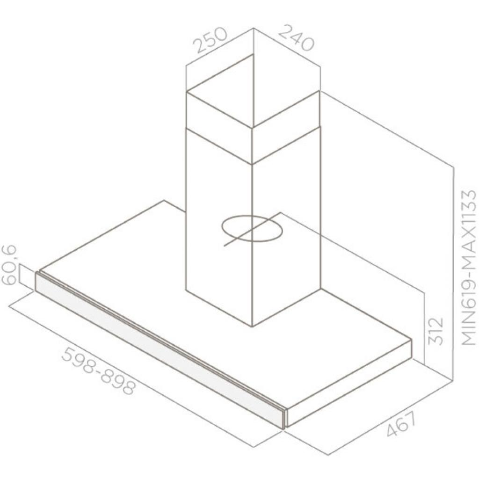 Вытяжка кухонная Elica JOY BLIX/A/60 изображение 2