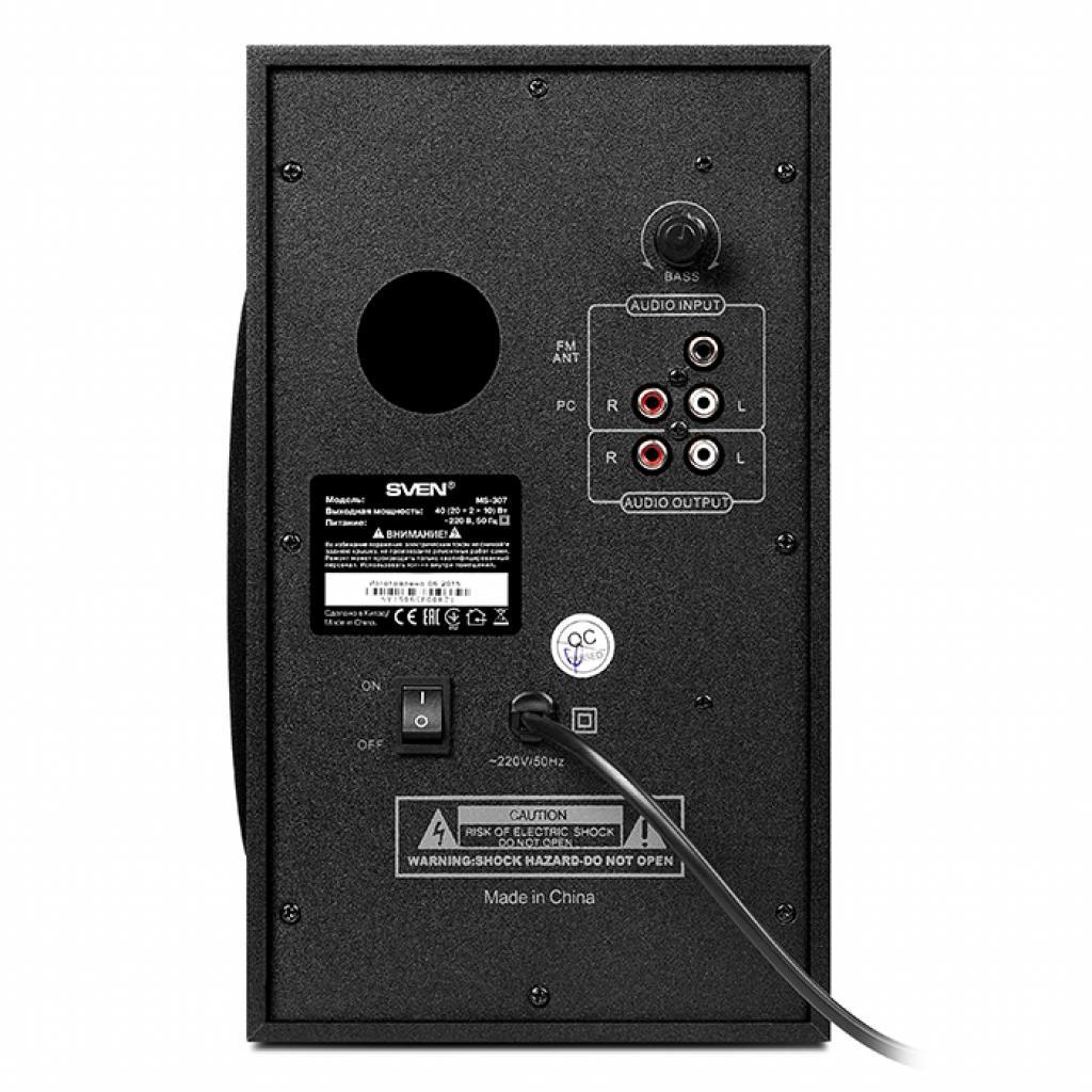 Акустическая система SVEN MS-307 black изображение 3