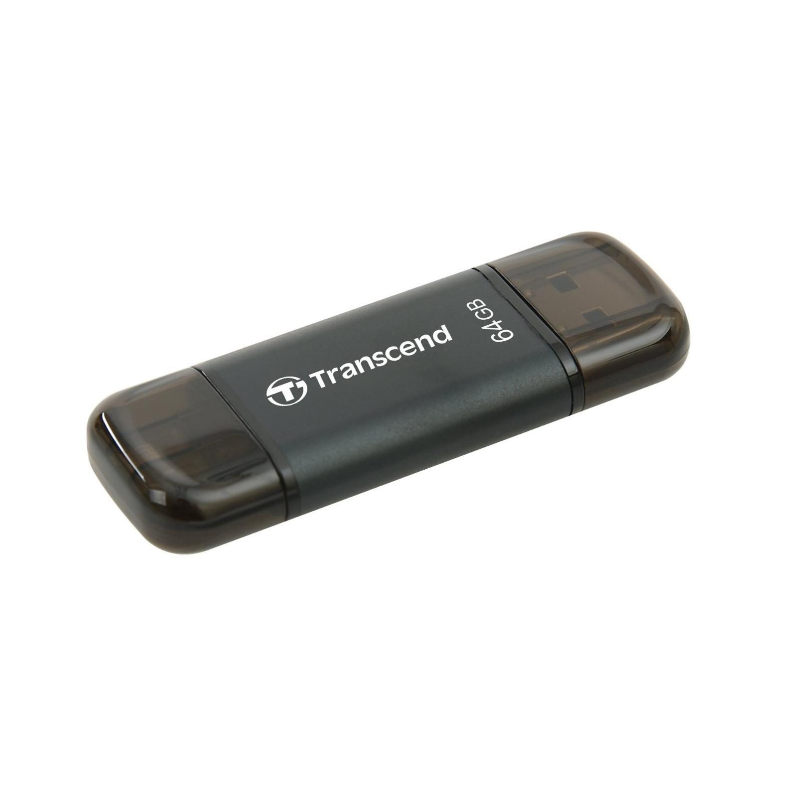 USB флеш накопитель Transcend 64GB JetDrive Go 300 Black USB 3.1 (TS64GJDG300K) изображение 2
