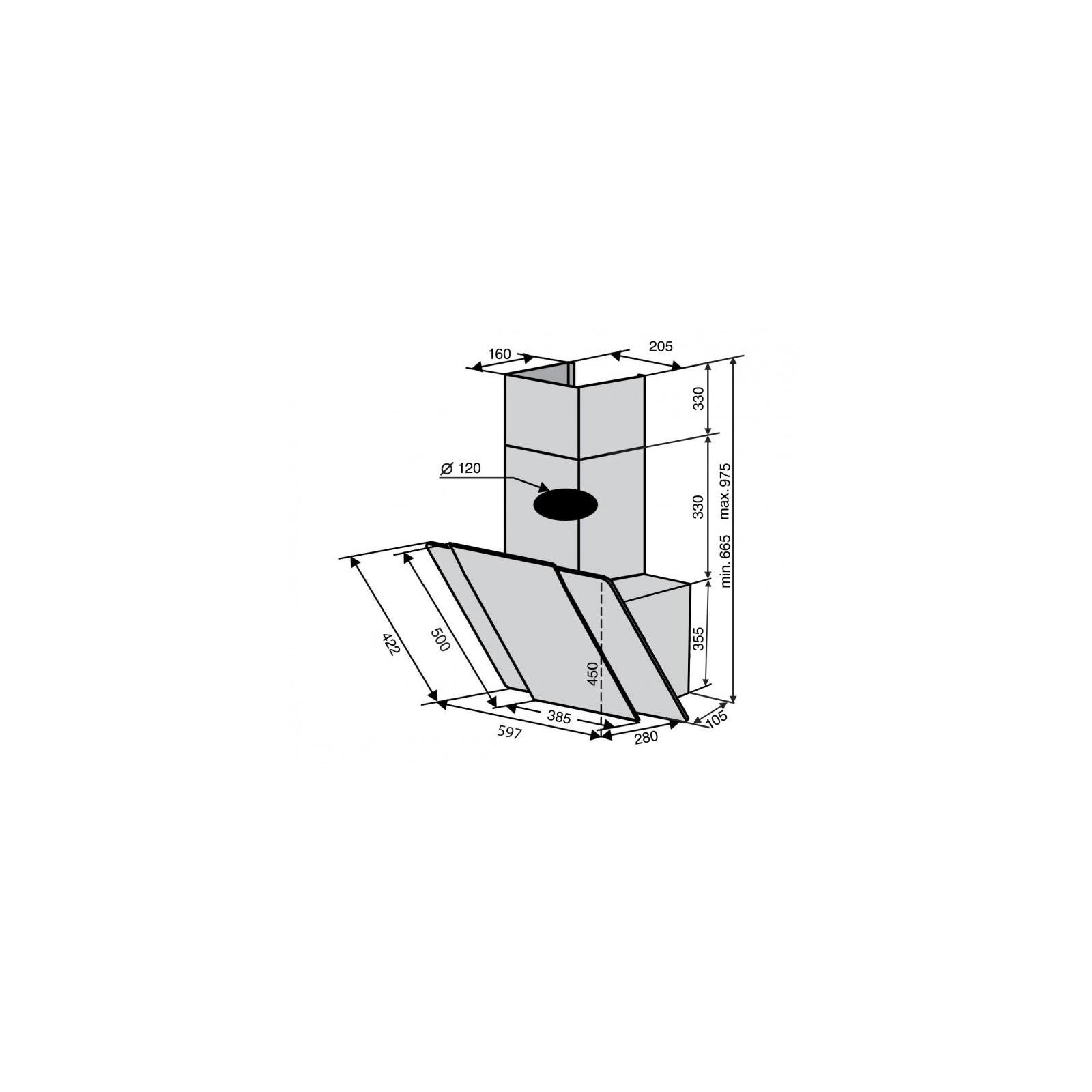 Вытяжка кухонная Ventolux TORINO 60 BG/X (750) PB изображение 6