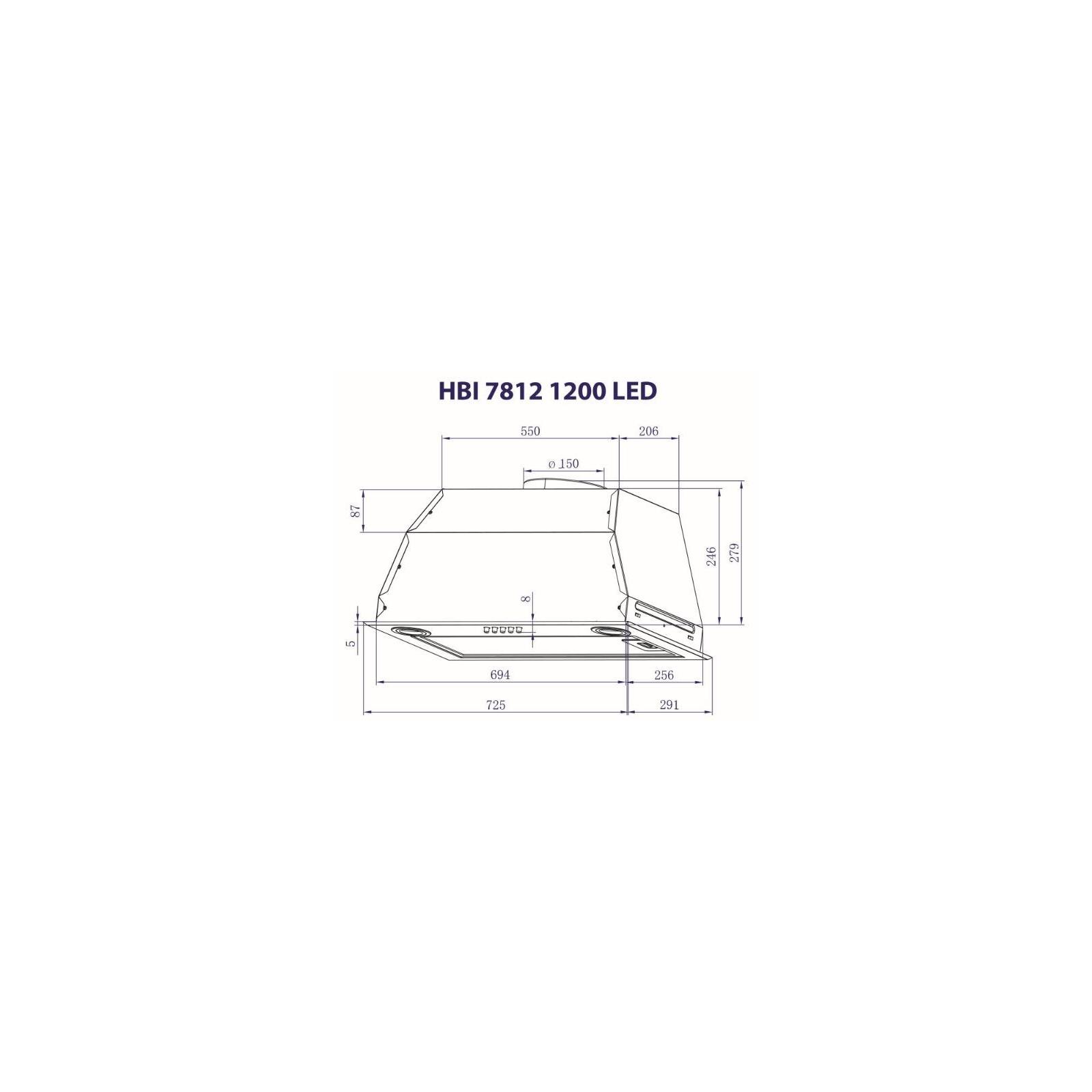 Вытяжка кухонная MINOLA HBI 7812 I 1200 LED изображение 8