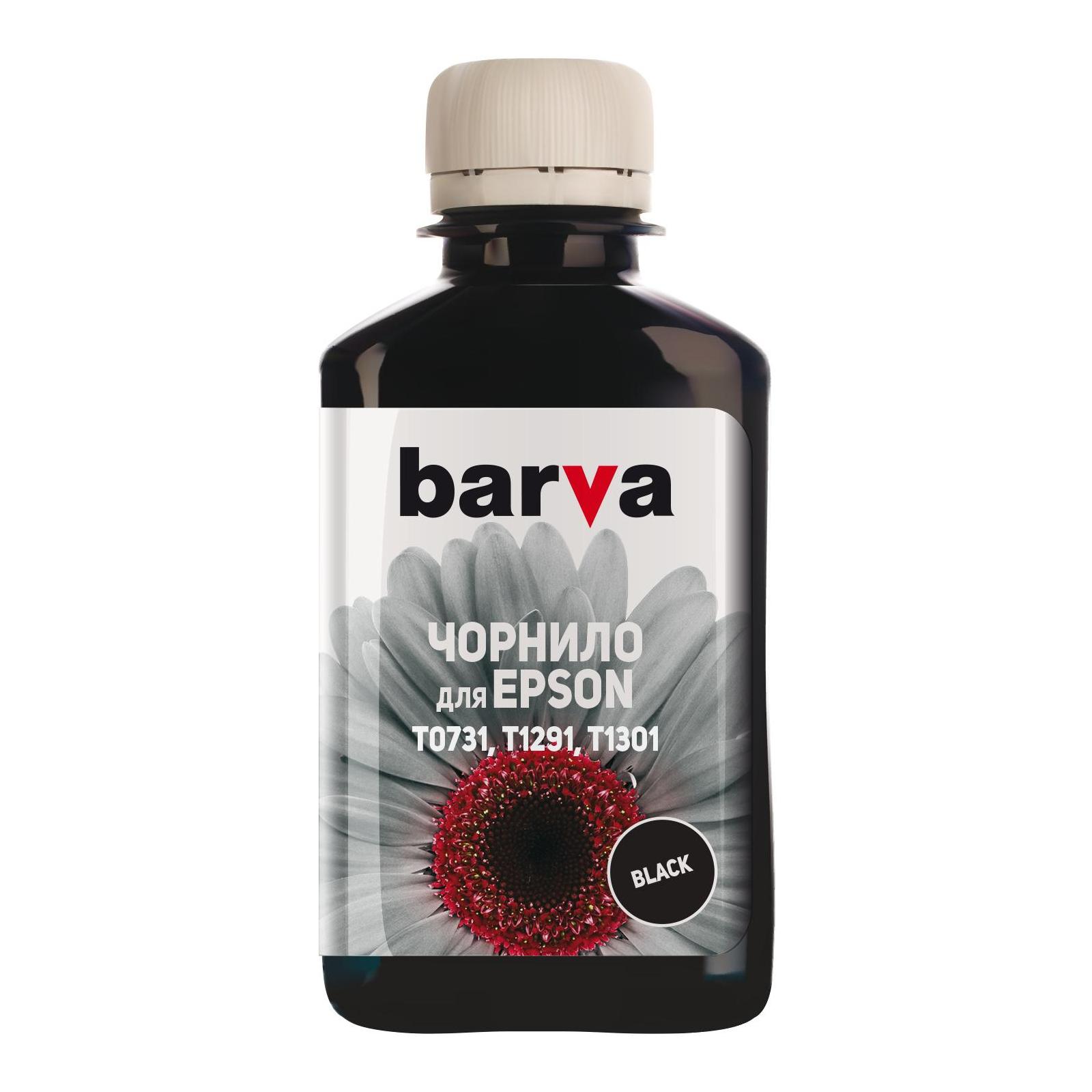 Чернила BARVA Epson T1301/T1291/T1281/T1031/T0731 Black 180 г pigm. (E130-535)