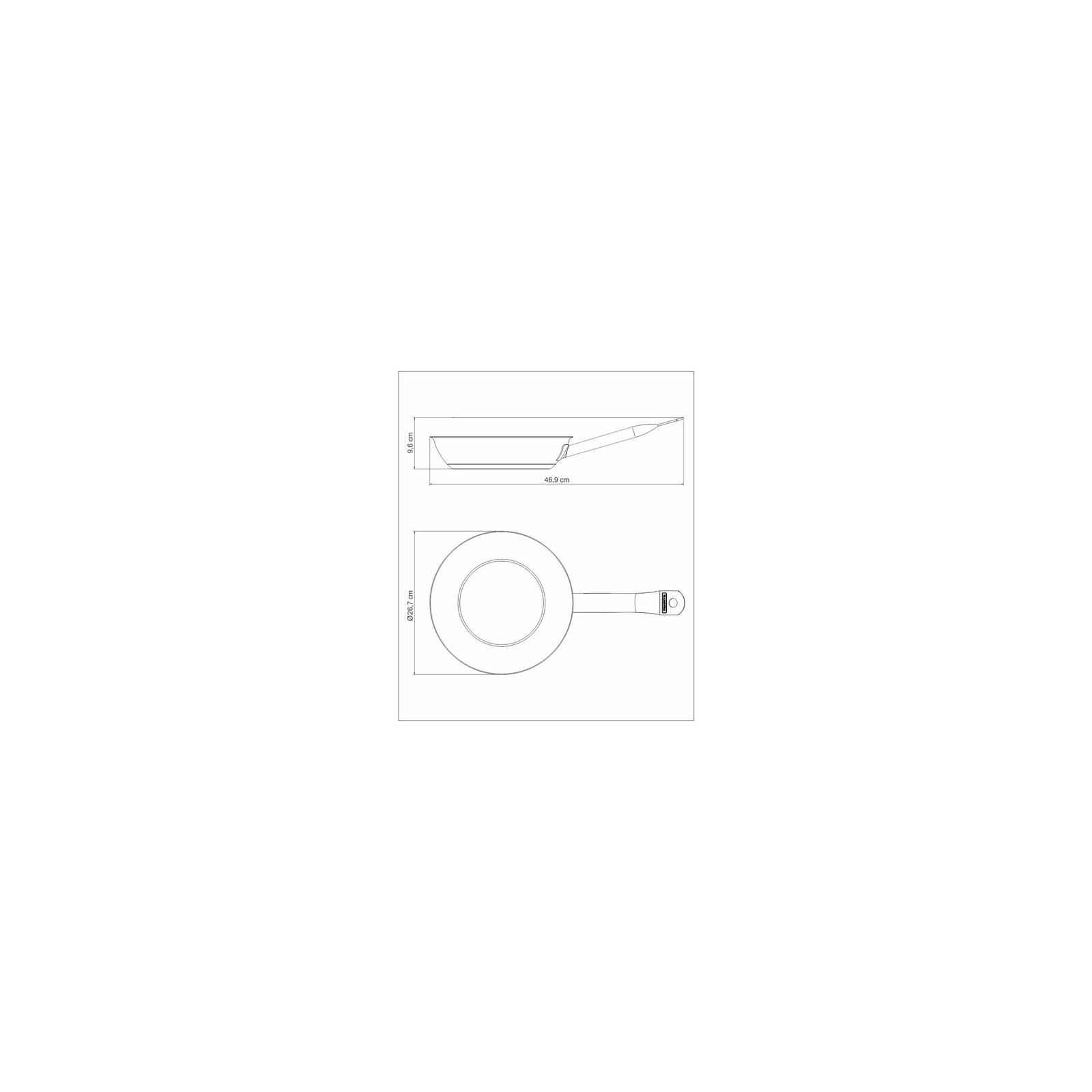 Сковорода Tramontina Professional глубокая 26 см (62637/260) изображение 2