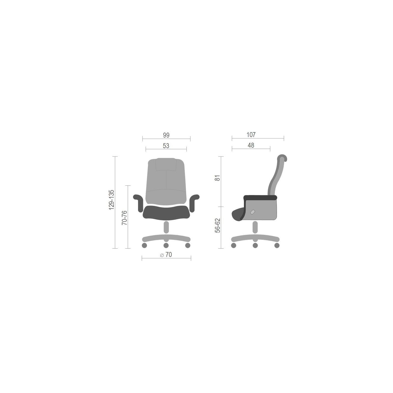 Офисное кресло Аклас Вольтер EX RL Черное (13620) изображение 6
