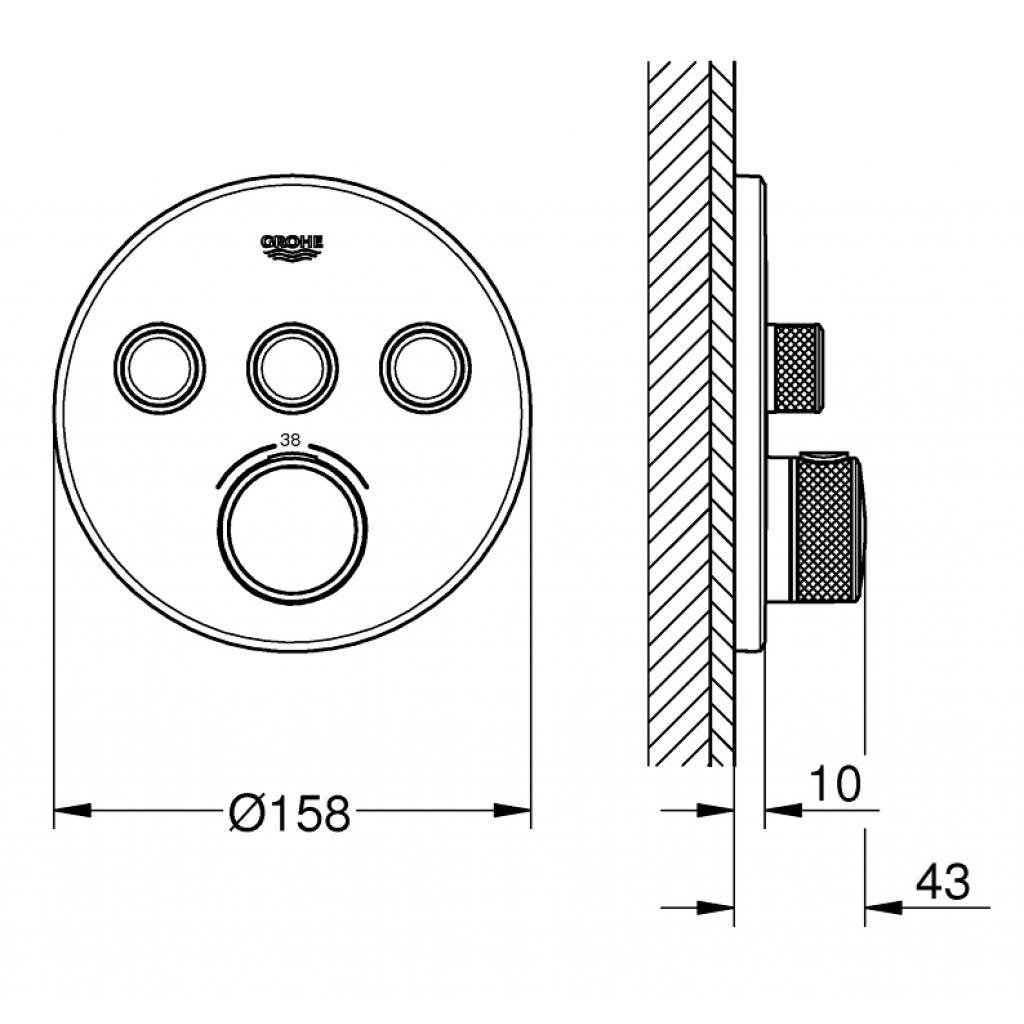 Термостатический смеситель Grohe GRT SmartControl (29121000) изображение 3