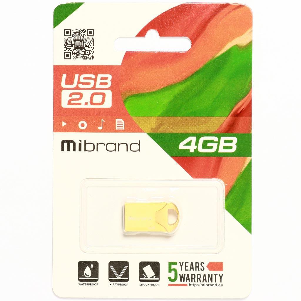 USB флеш накопитель Mibrand 16GB Hawk Gold USB 2.0 (MI2.0/HA16M1G) изображение 2