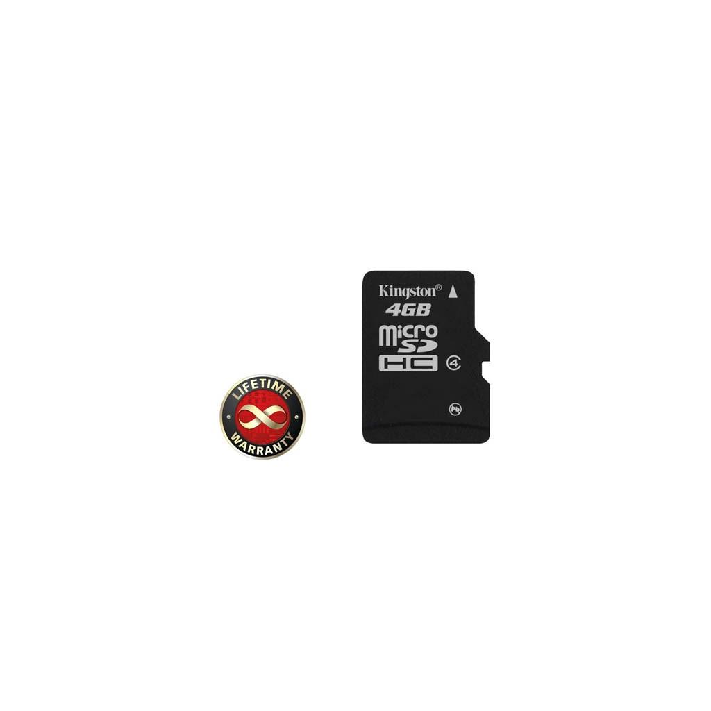 Карта памяти 4Gb microSDHC class 4 Kingston (SDC4/4GBSP)