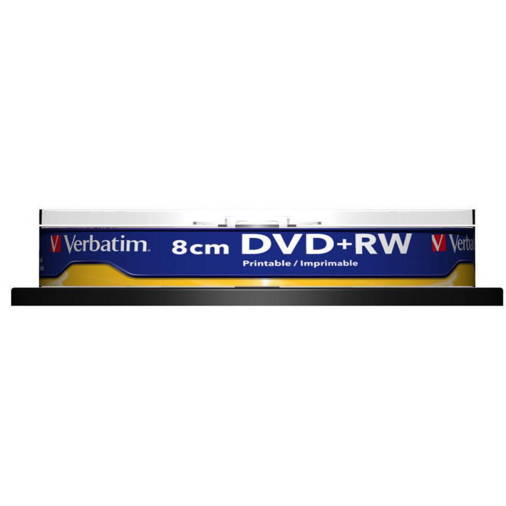 Диск DVD Verbatim mini 1.4Gb 4X CakeBox Printable 10ш (43641) изображение 2