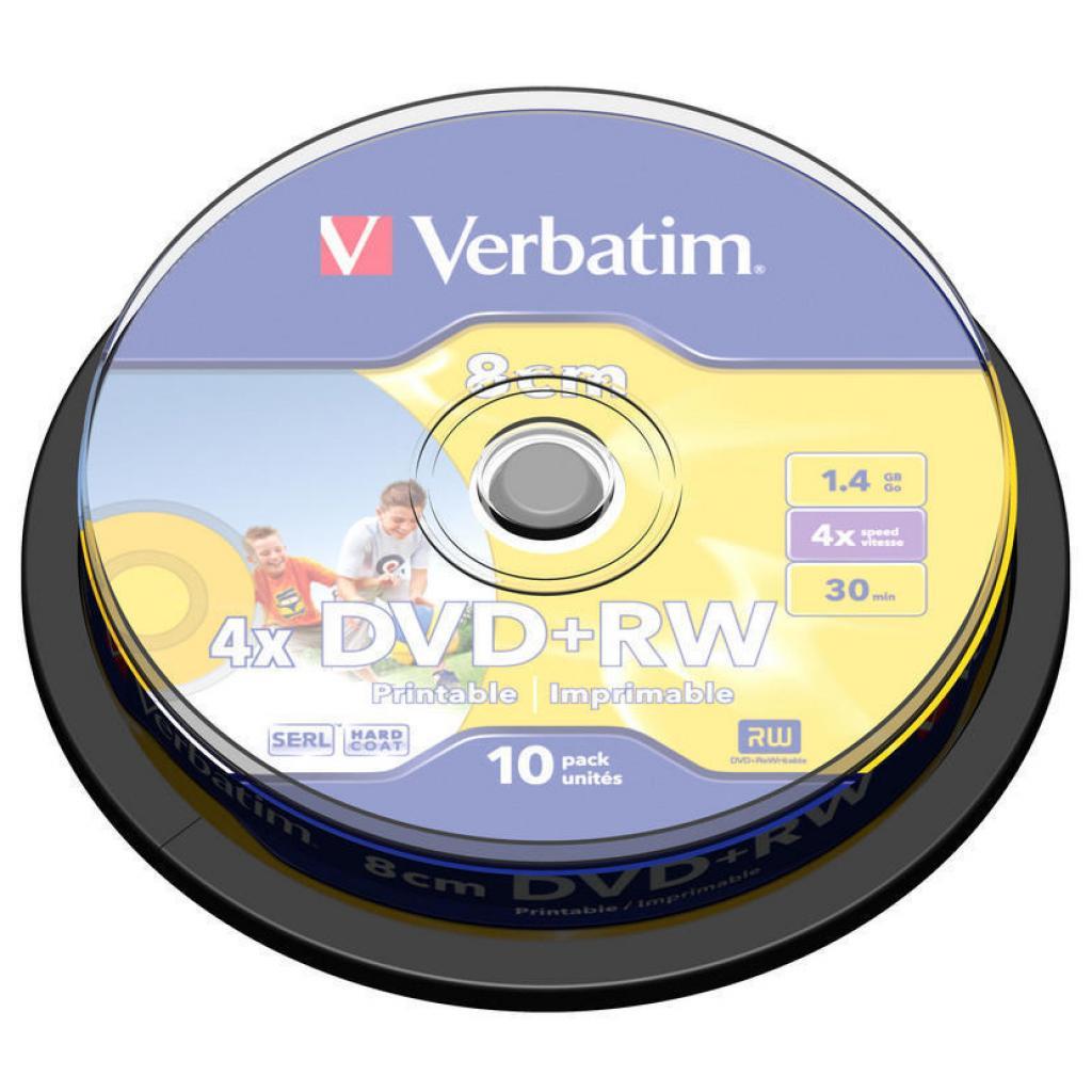 Диск DVD Verbatim mini 1.4Gb 4X CakeBox Printable 10ш (43641)