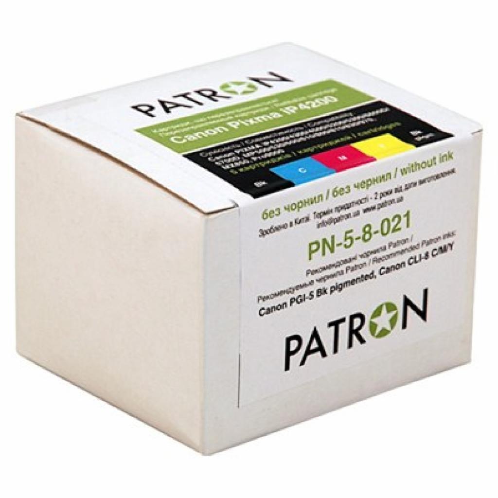 Комплект перезаправляемых картриджей PATRON CANON PIXMA iP4200 (5 шт) (PN-5-8-021)