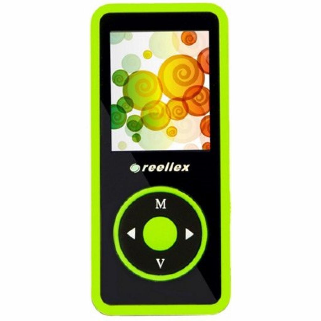 mp3 плеер Reellex UP-48 4GB Black/Green (UP-48 Black/Green)