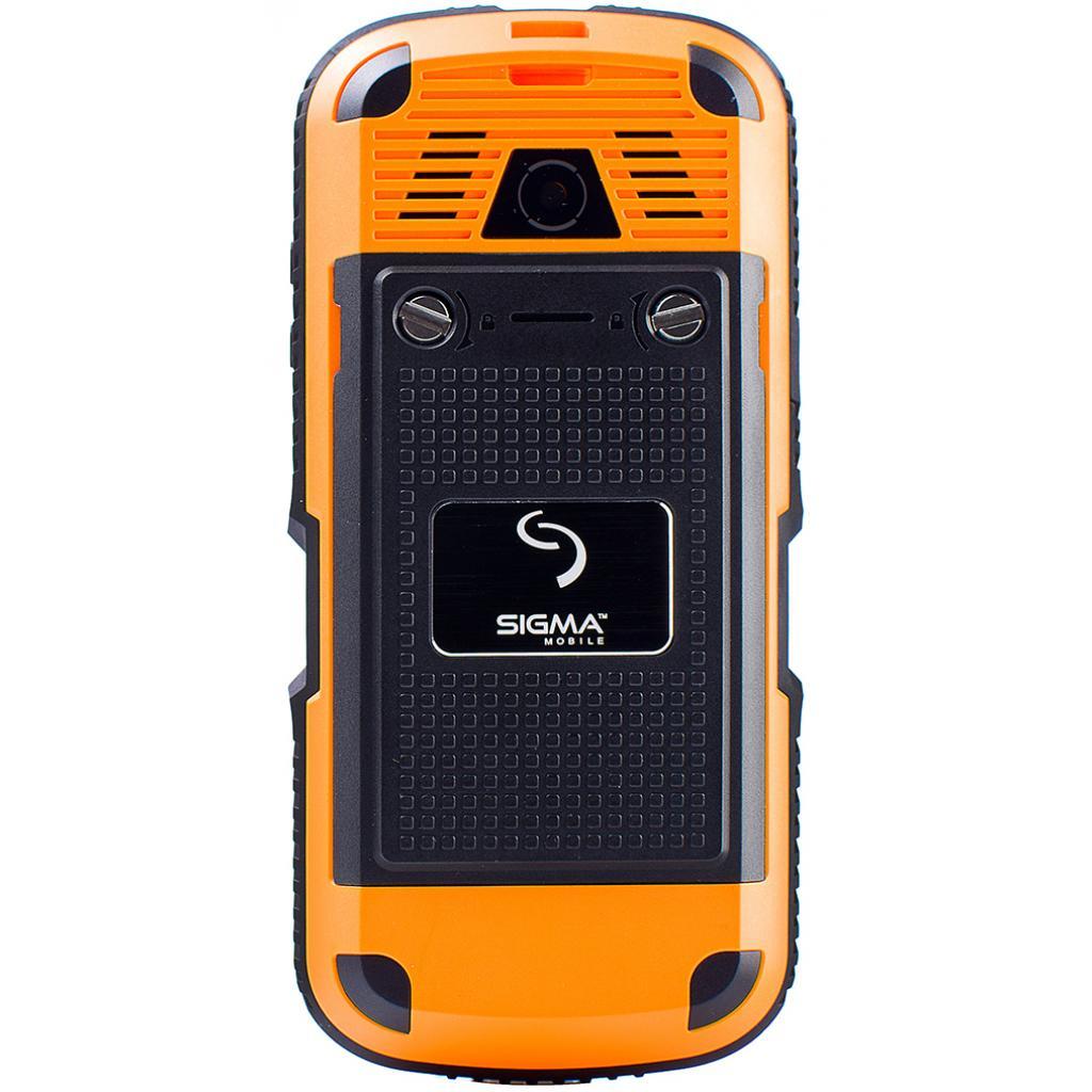 Мобильный телефон Sigma X-treme IP67 Dual Sim Black Orange (6907798423537) изображение 2