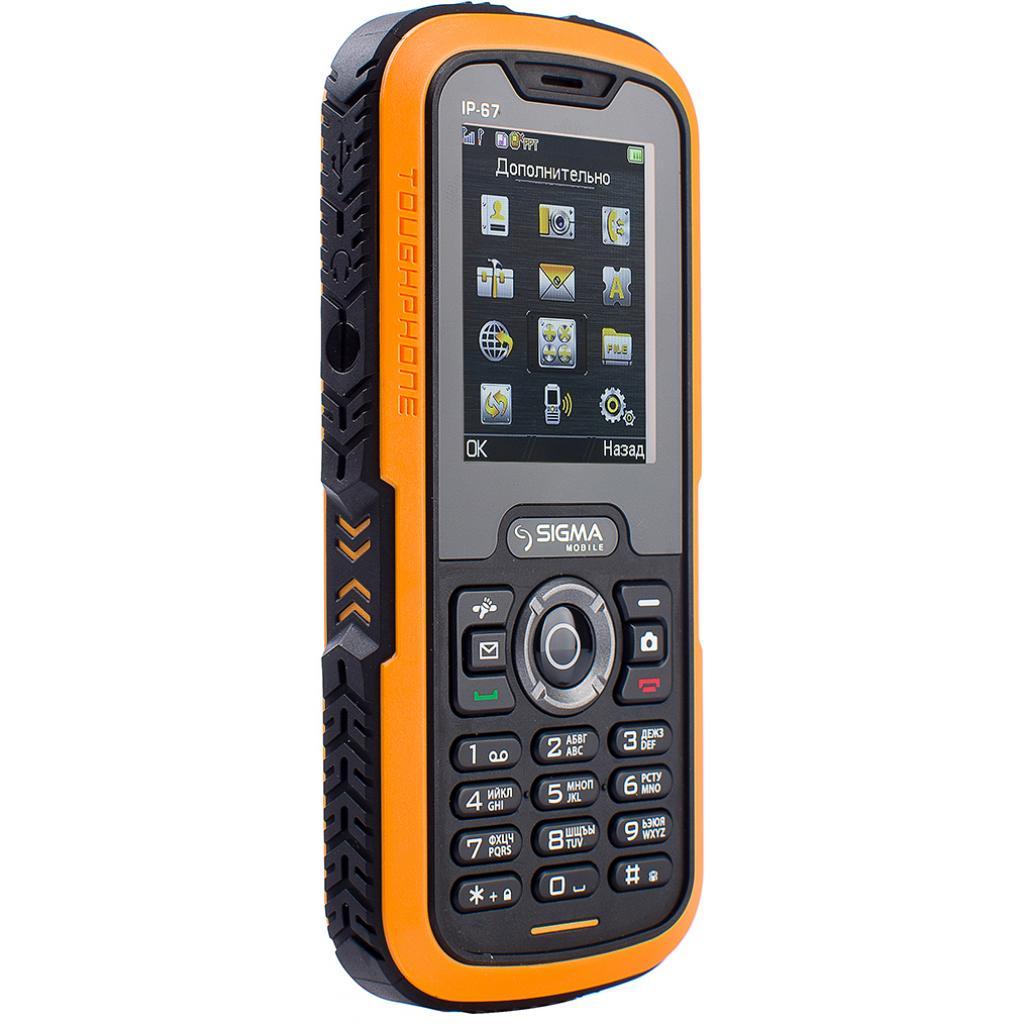 Мобильный телефон Sigma X-treme IP67 Dual Sim Black Orange (6907798423537) изображение 3