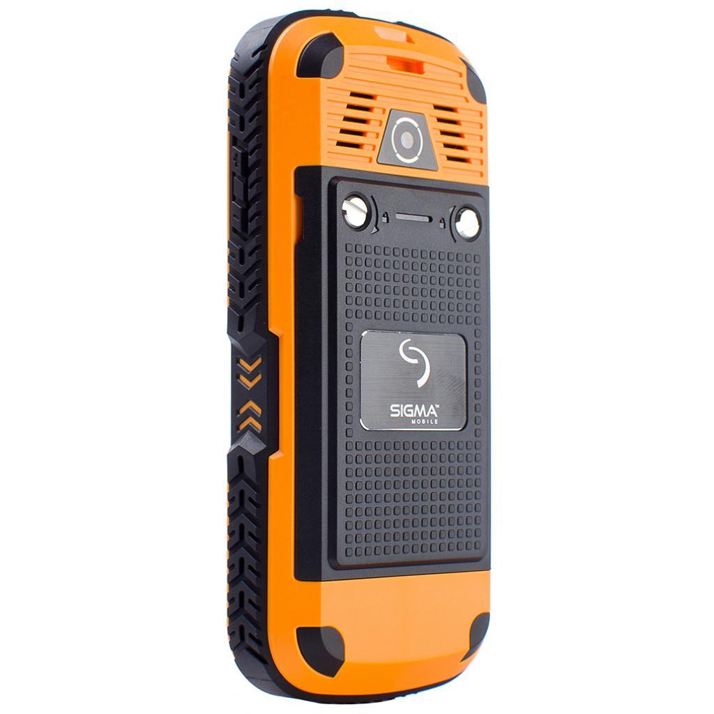 Мобильный телефон Sigma X-treme IP67 Dual Sim Black Orange (6907798423537) изображение 4