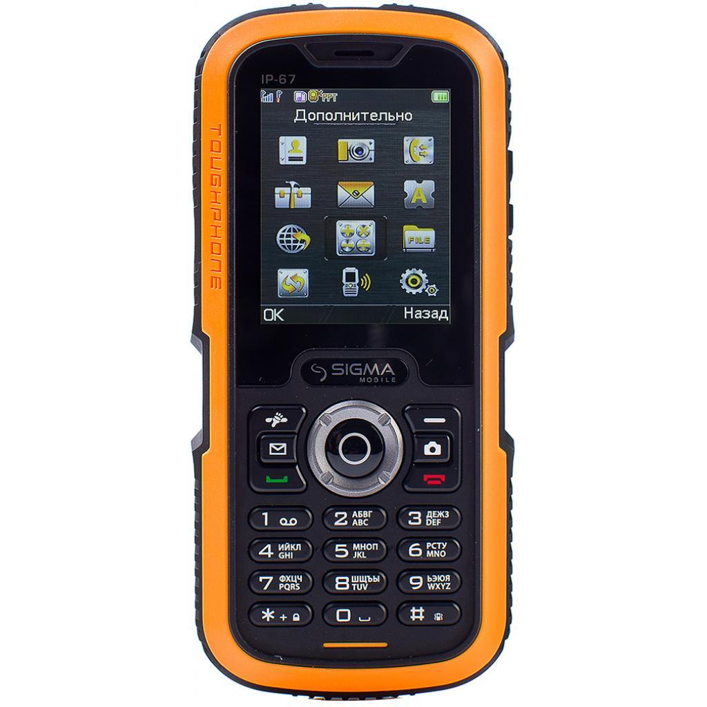 Мобильный телефон Sigma X-treme IP67 Dual Sim Black Orange (6907798423537)