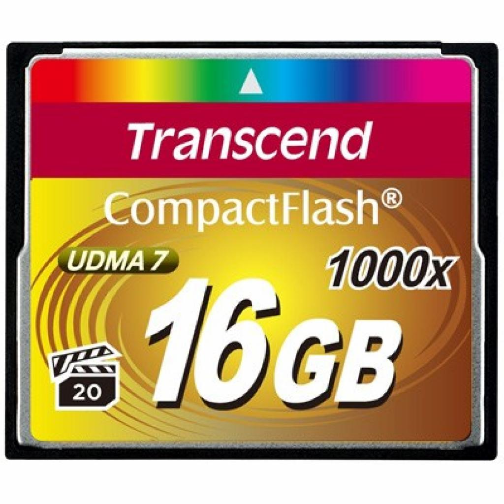 Карта памяти Transcend 16Gb Compact Flash 1000x (TS16GCF1000)