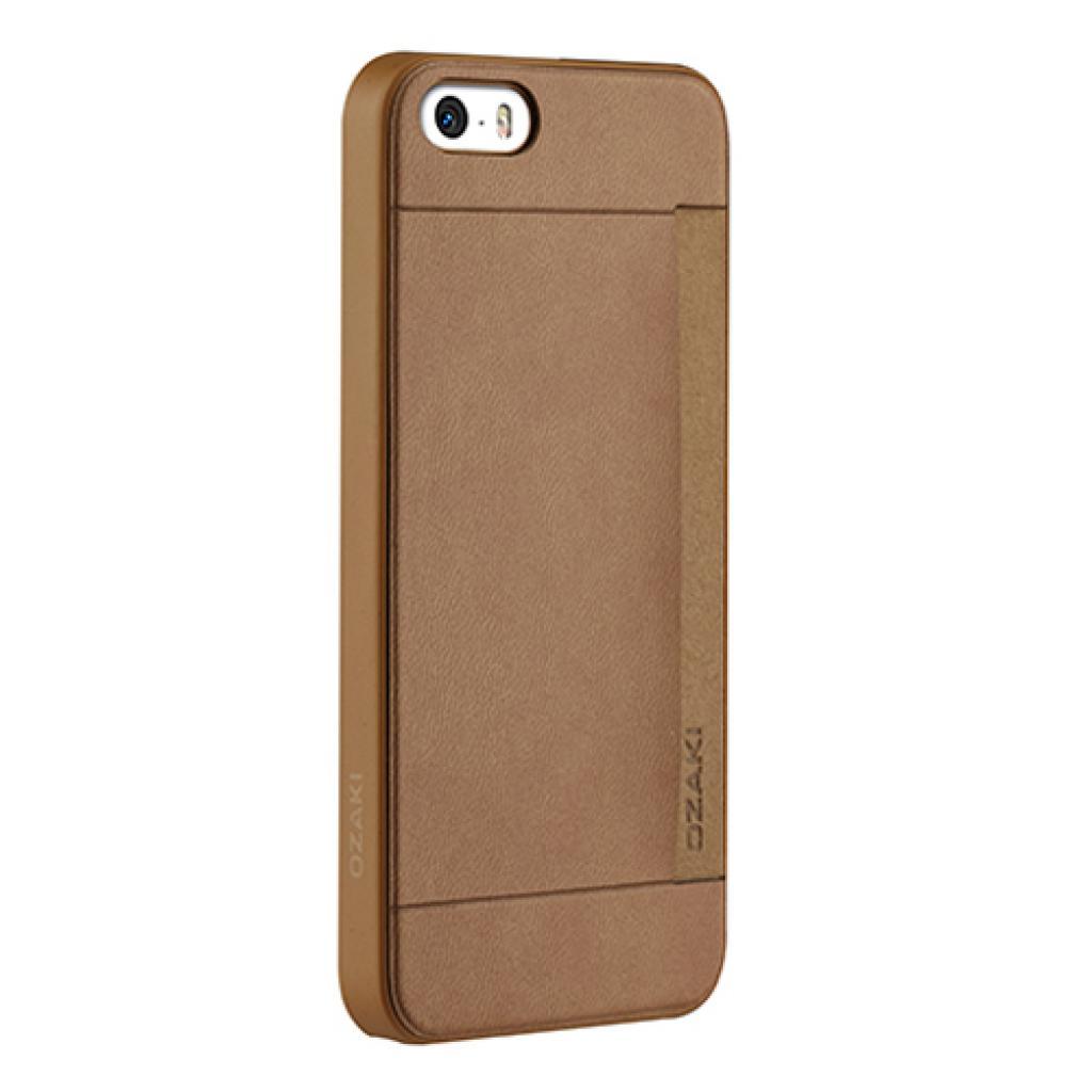 Чехол для моб. телефона OZAKI iPhone 5/5S O!coat 0.3+ Pocket ultra slim deluxe Brown (OC547BR) изображение 2