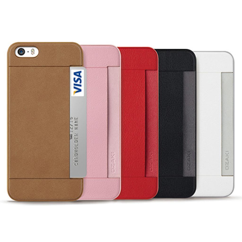 Чехол для моб. телефона OZAKI iPhone 5/5S O!coat 0.3+ Pocket ultra slim deluxe Brown (OC547BR) изображение 3