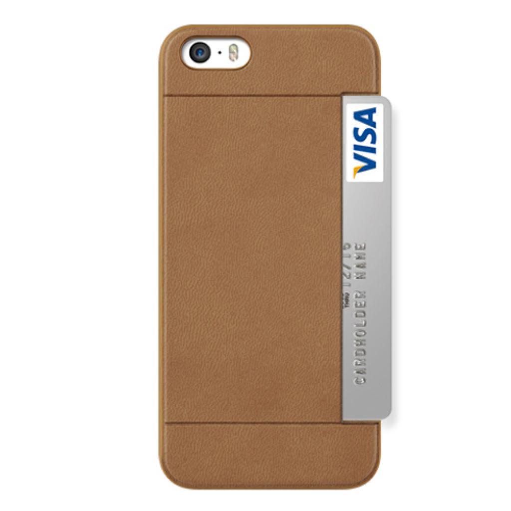 Чехол для моб. телефона OZAKI iPhone 5/5S O!coat 0.3+ Pocket ultra slim deluxe Brown (OC547BR)