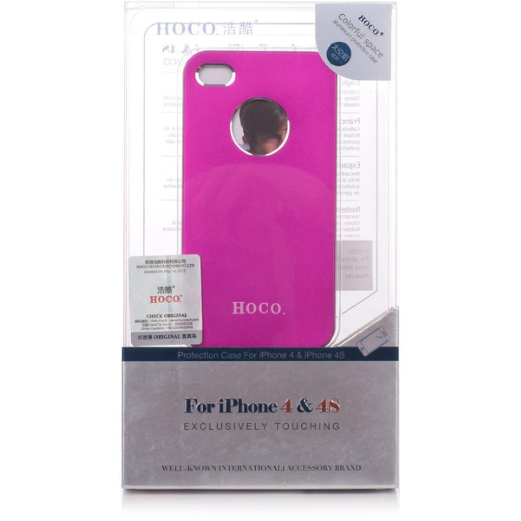 Чехол для моб. телефона HOCO для iPhone 4/4S /Metal Back (HI-P001 Rose Red)