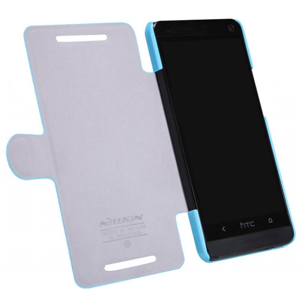 Чехол для моб. телефона NILLKIN для HTC ONE/M7- Fresh/ Leather/Blue (6076832) изображение 3