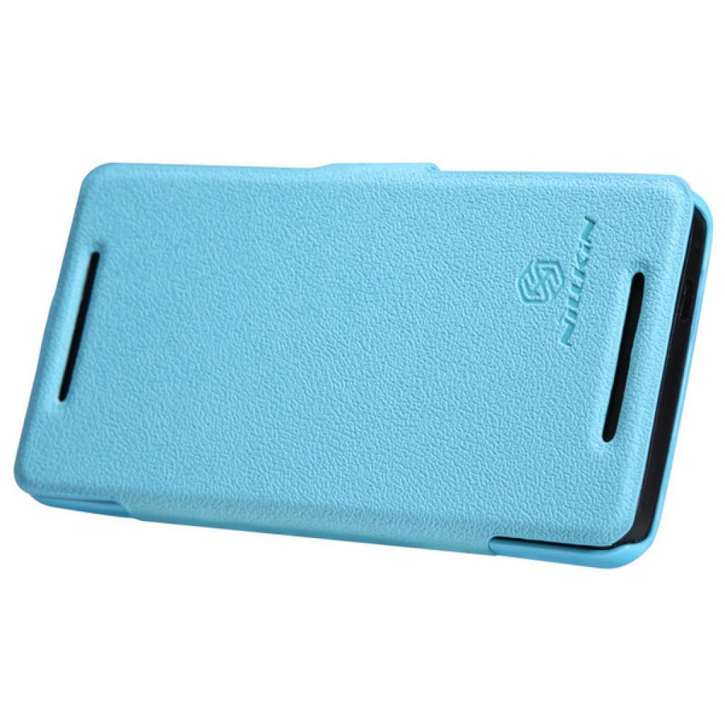 Чехол для моб. телефона NILLKIN для HTC ONE/M7- Fresh/ Leather/Blue (6076832) изображение 5