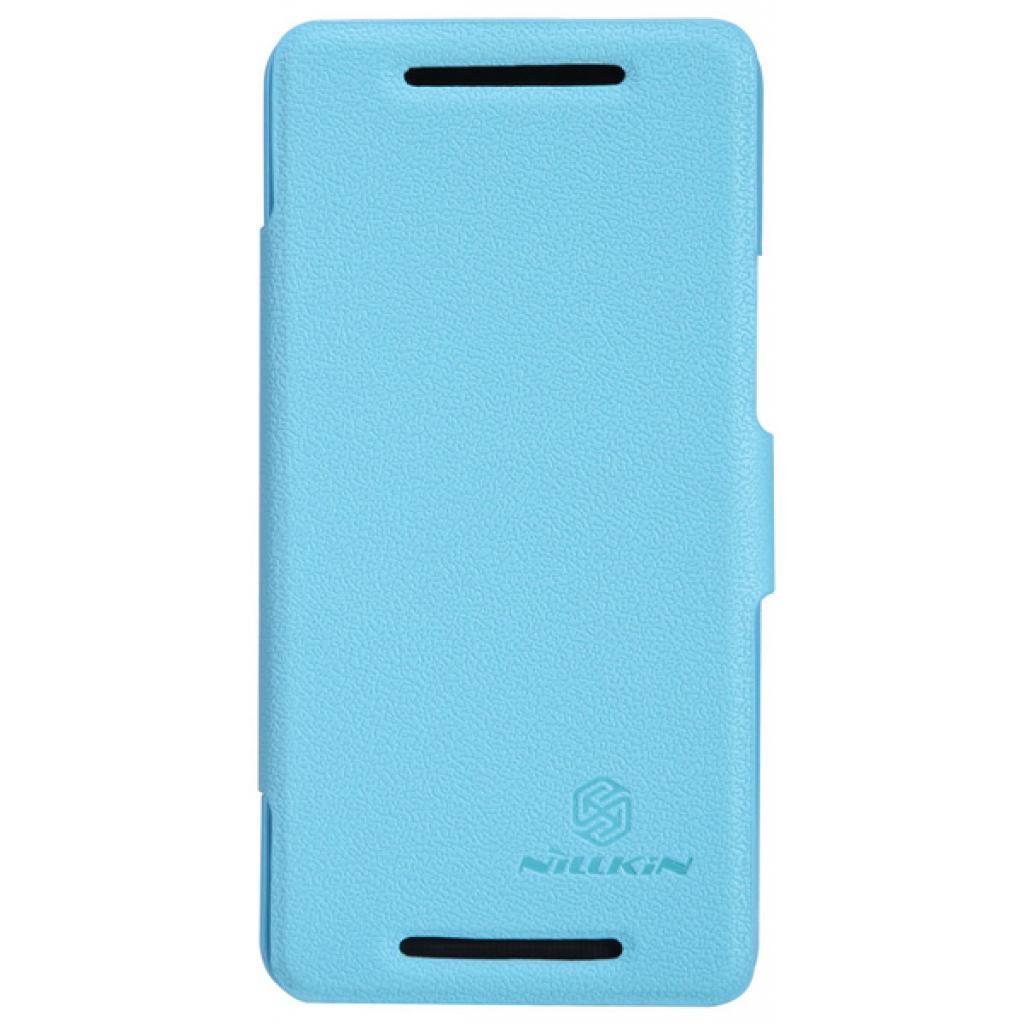 Чехол для моб. телефона NILLKIN для HTC ONE/M7- Fresh/ Leather/Blue (6076832)