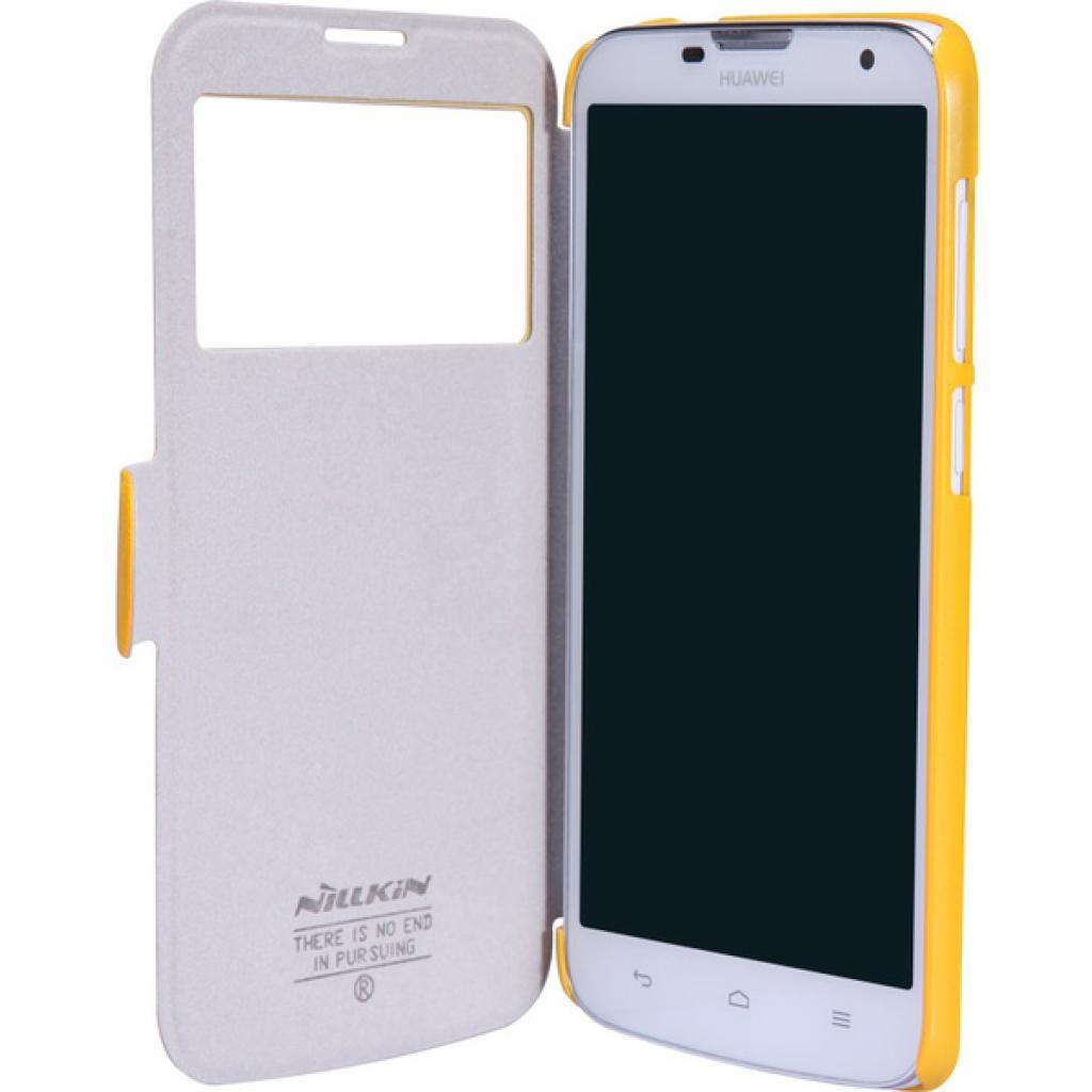 Чехол для моб. телефона NILLKIN для Huawei G730/Fresh/ Leather/Yellow (6147647) изображение 2