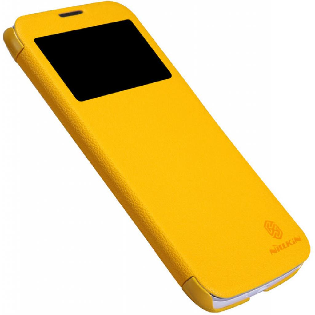 Чехол для моб. телефона NILLKIN для Huawei G730/Fresh/ Leather/Yellow (6147647) изображение 3