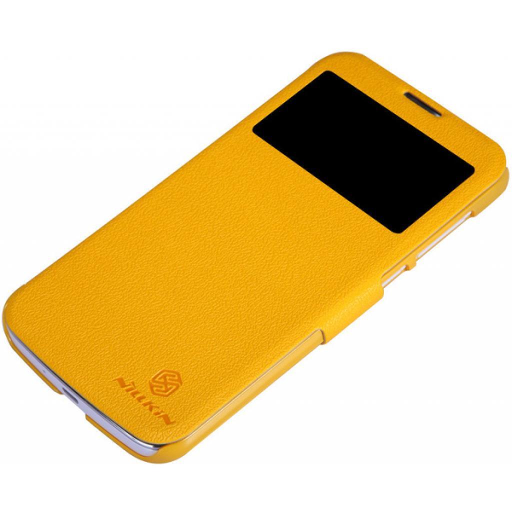 Чехол для моб. телефона NILLKIN для Huawei G730/Fresh/ Leather/Yellow (6147647) изображение 4