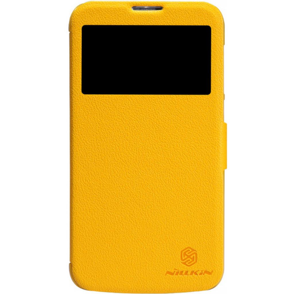 Чехол для моб. телефона NILLKIN для Huawei G730/Fresh/ Leather/Yellow (6147647)