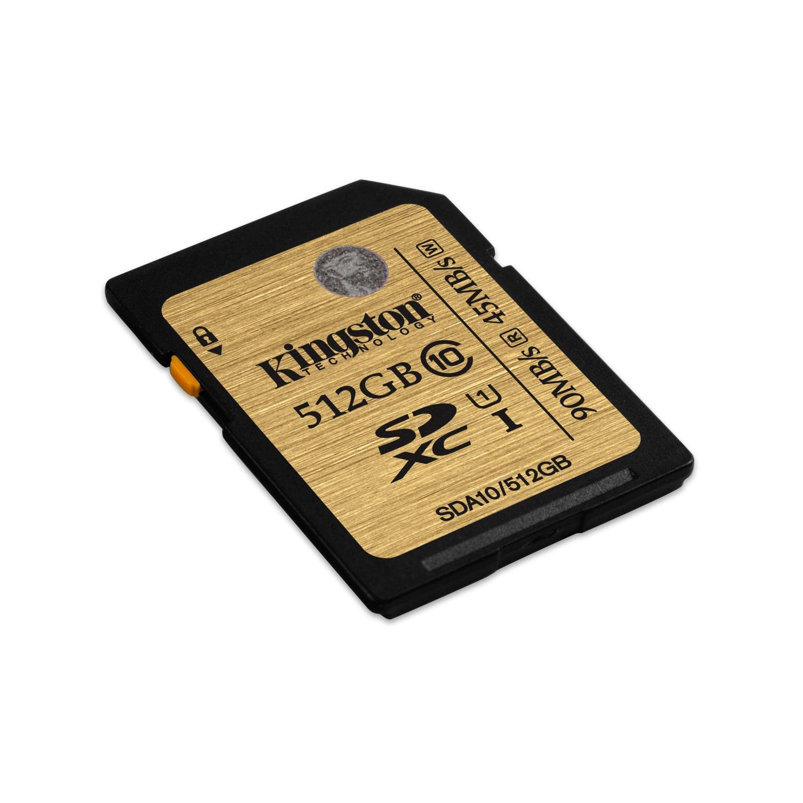 Карта памяти Kingston 512GB SDXC class10 UHS-I (SDA10/512GB) изображение 2