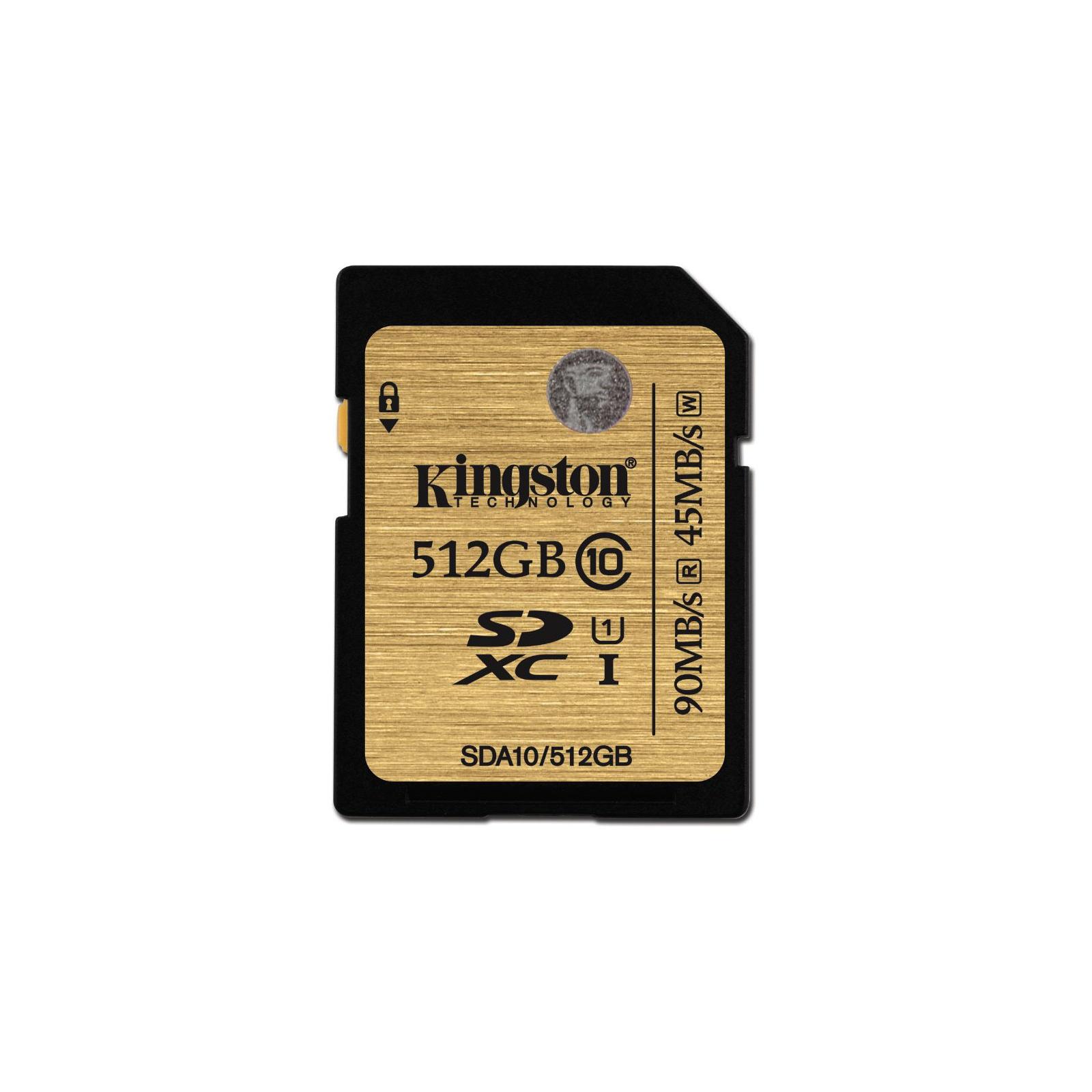 Карта памяти Kingston 512GB SDXC class10 UHS-I (SDA10/512GB)