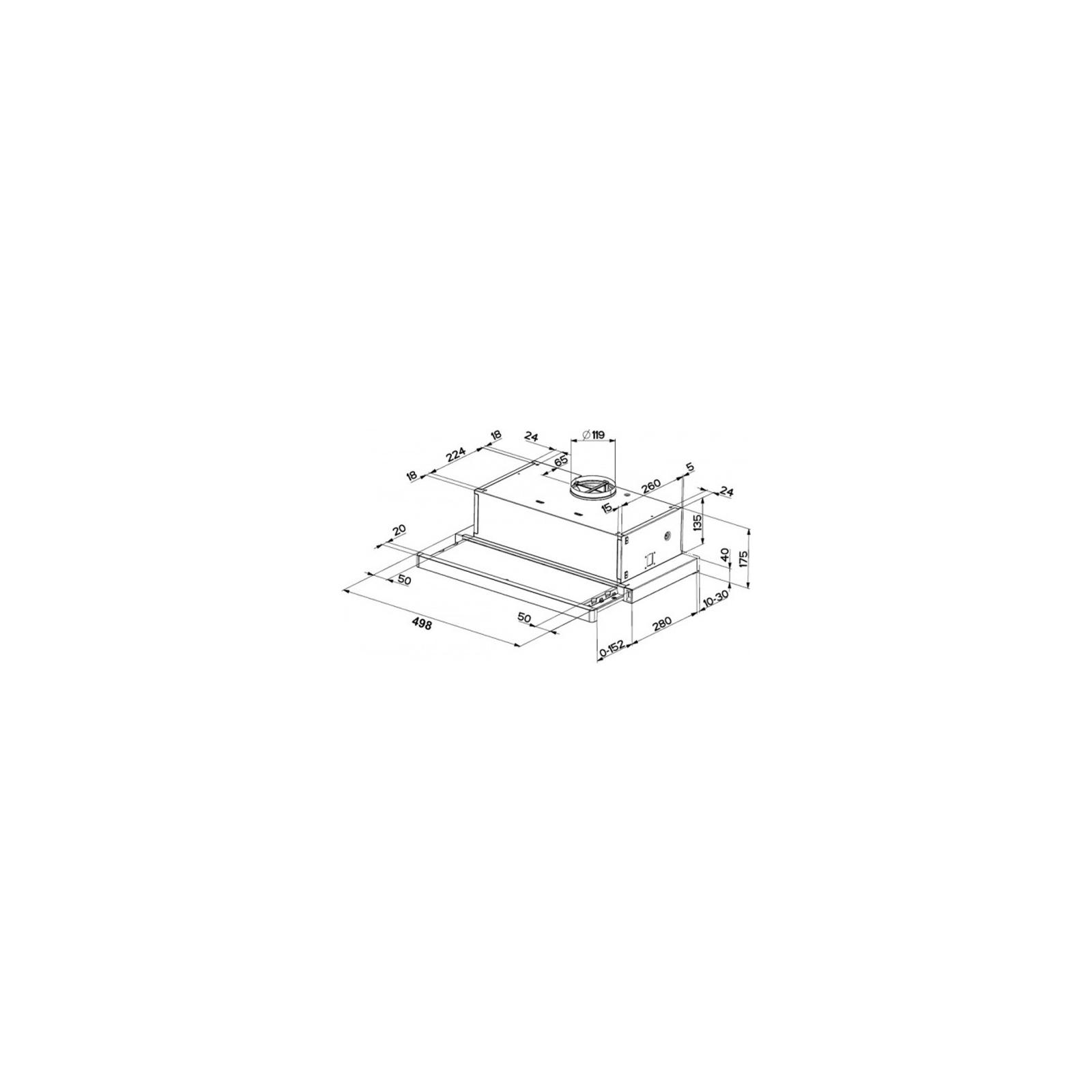 Вытяжка кухонная FABER FLEXA M6 W A50 FB EXP изображение 2