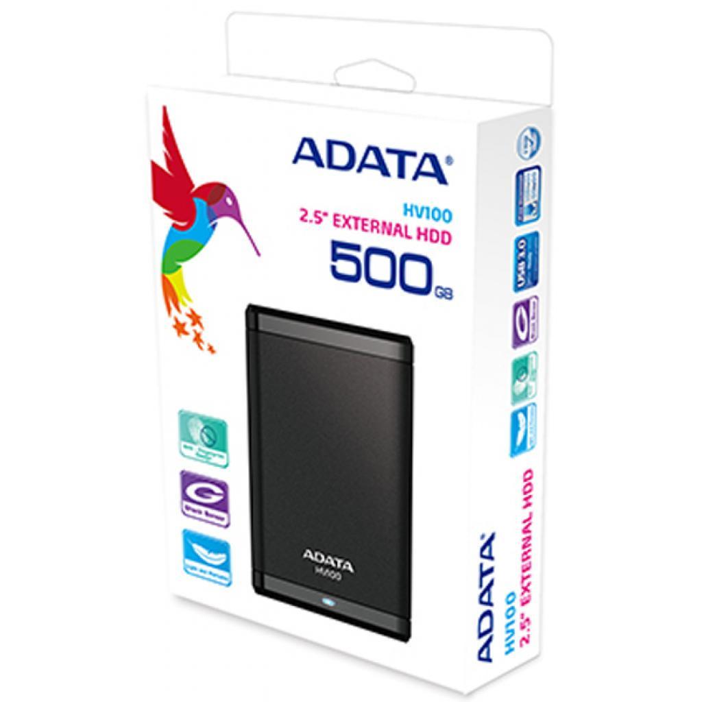 """Внешний жесткий диск 2.5"""" 500GB ADATA (AHV100-500GU3-CBK) изображение 7"""