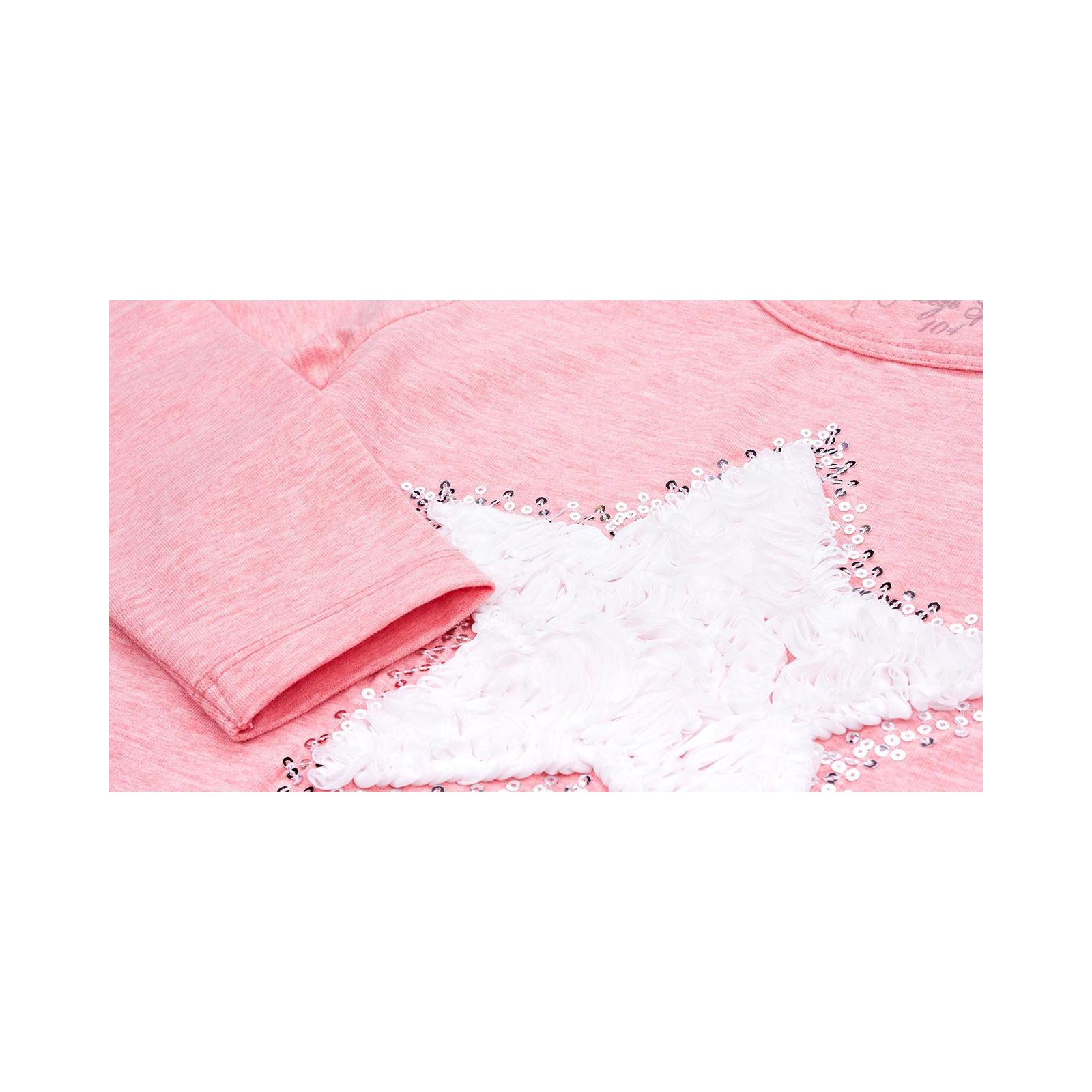 Кофта Breeze со звездой и оборкой (10536-110G-pink) изображение 5
