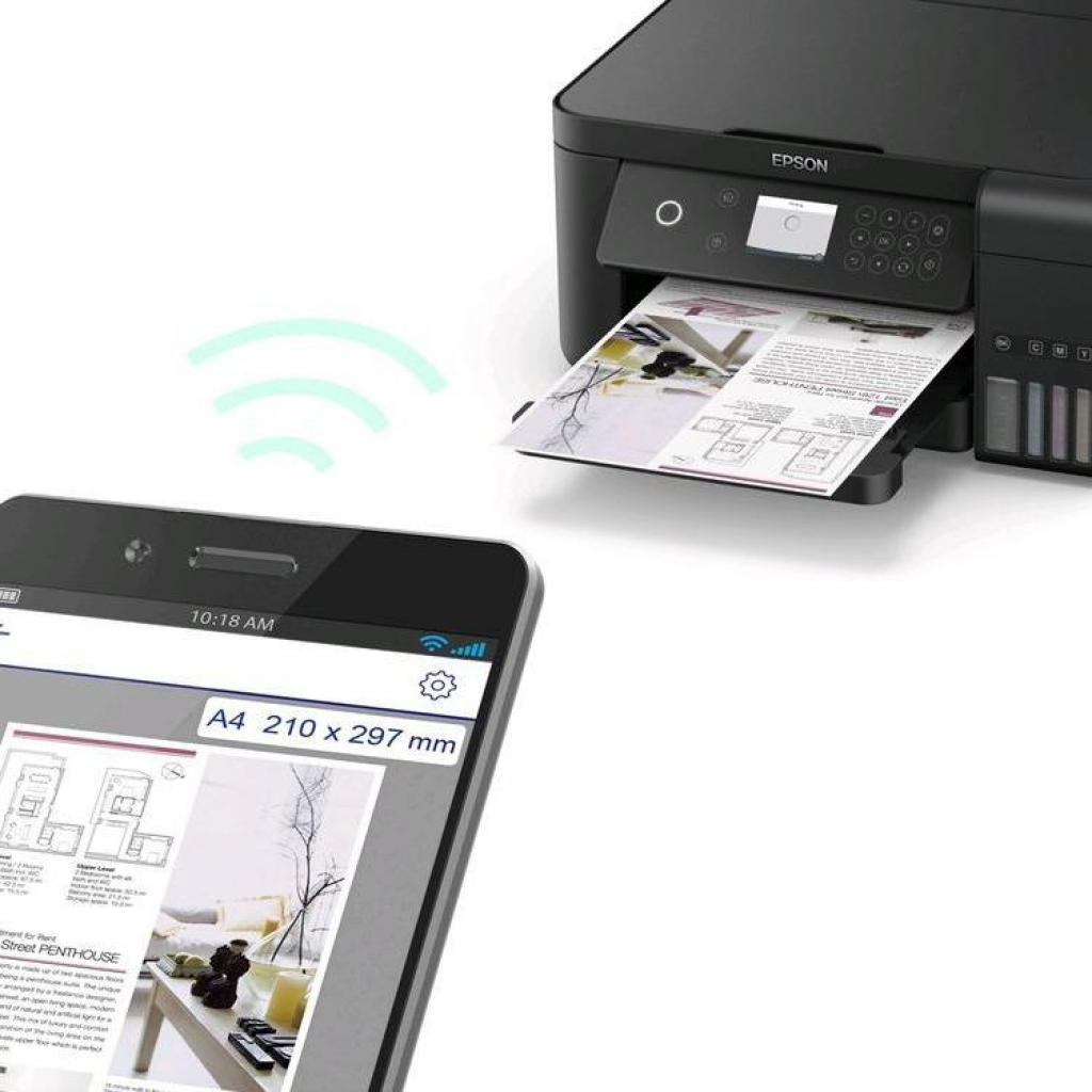 Многофункциональное устройство Epson L6160 c WiFi (C11CG21404) изображение 7