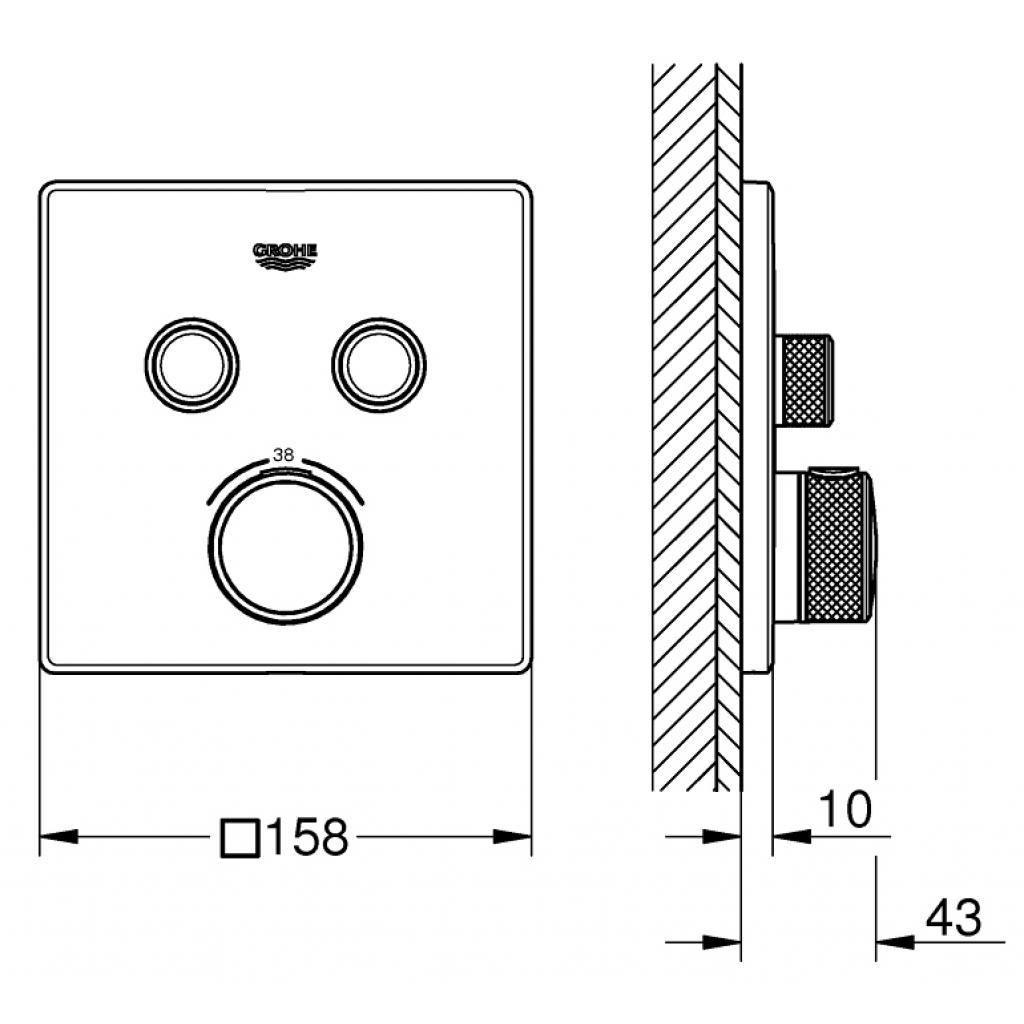 Термостатический смеситель Grohe GRT SmartControl (29124000) изображение 3
