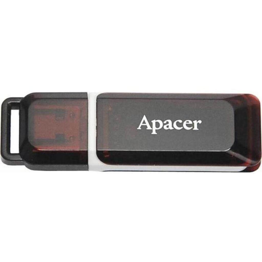 USB флеш накопитель Handy Steno AH321 black-red Apacer (AP4GAH321R-1)