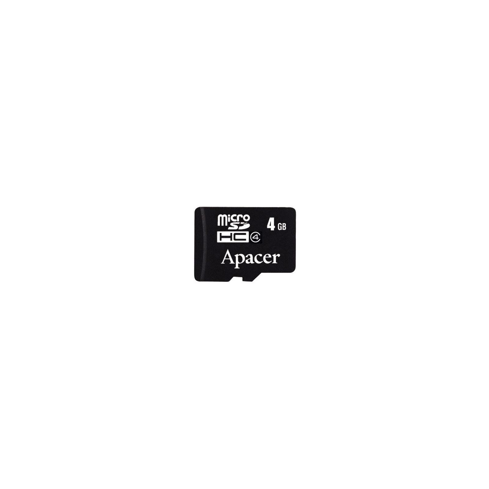 Карта памяти 4Gb microSDHC class 4 Apacer (AP4GMCSH4-RA)