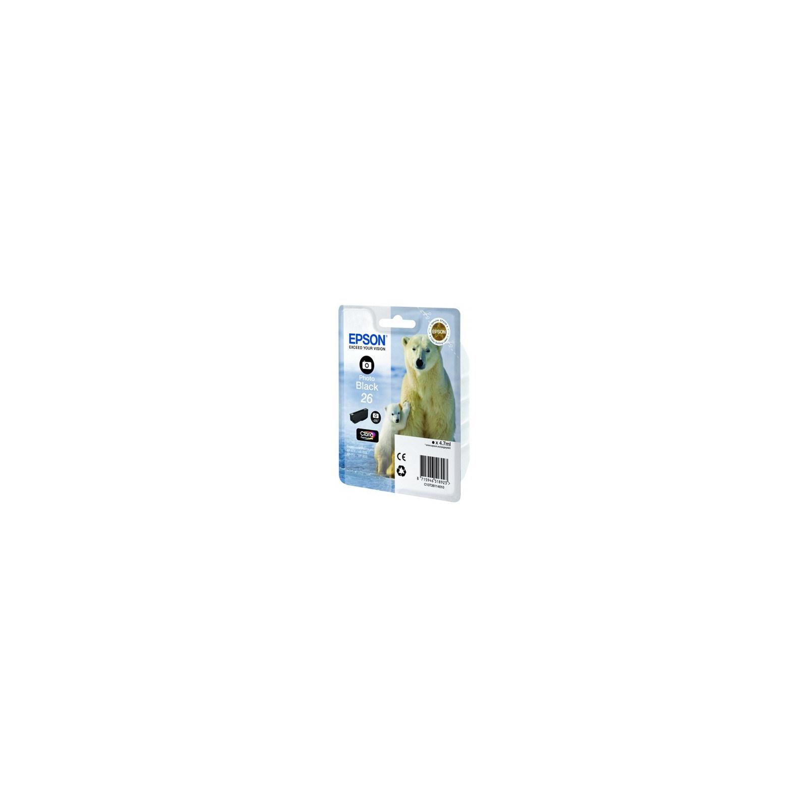 Картридж EPSON 26 XP600/605/700 black (C13T26114010/C13T26114012)