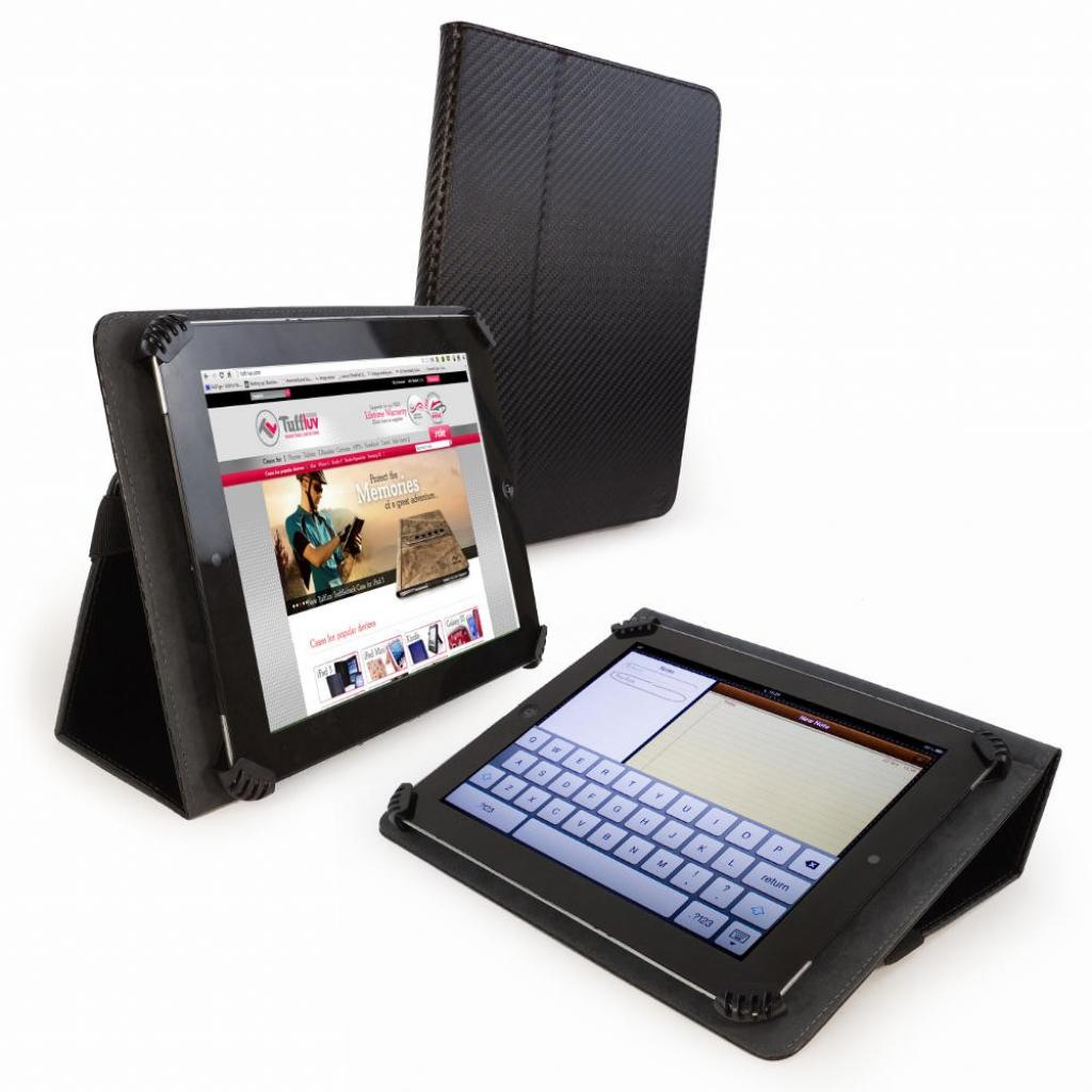 Чехол для планшета Tuff-Luv 10 Uni-View Black Carbon (A3_45)