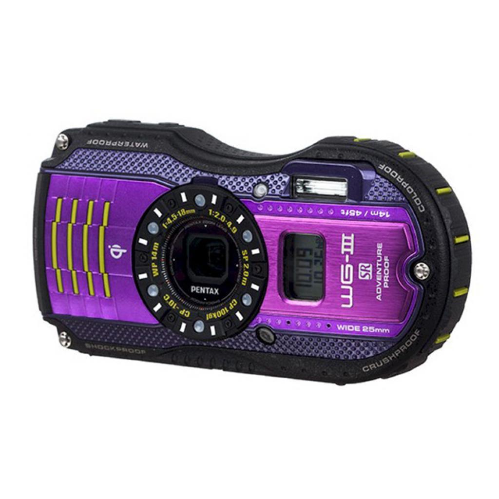 Цифровой фотоаппарат Pentax WG-3 GPS black-viol kit (1267203)