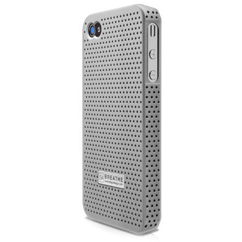 Чехол для моб. телефона ELAGO для iPhone 4/4S /Breathe/ Silver (EL-S4BR-SFSL-PL)