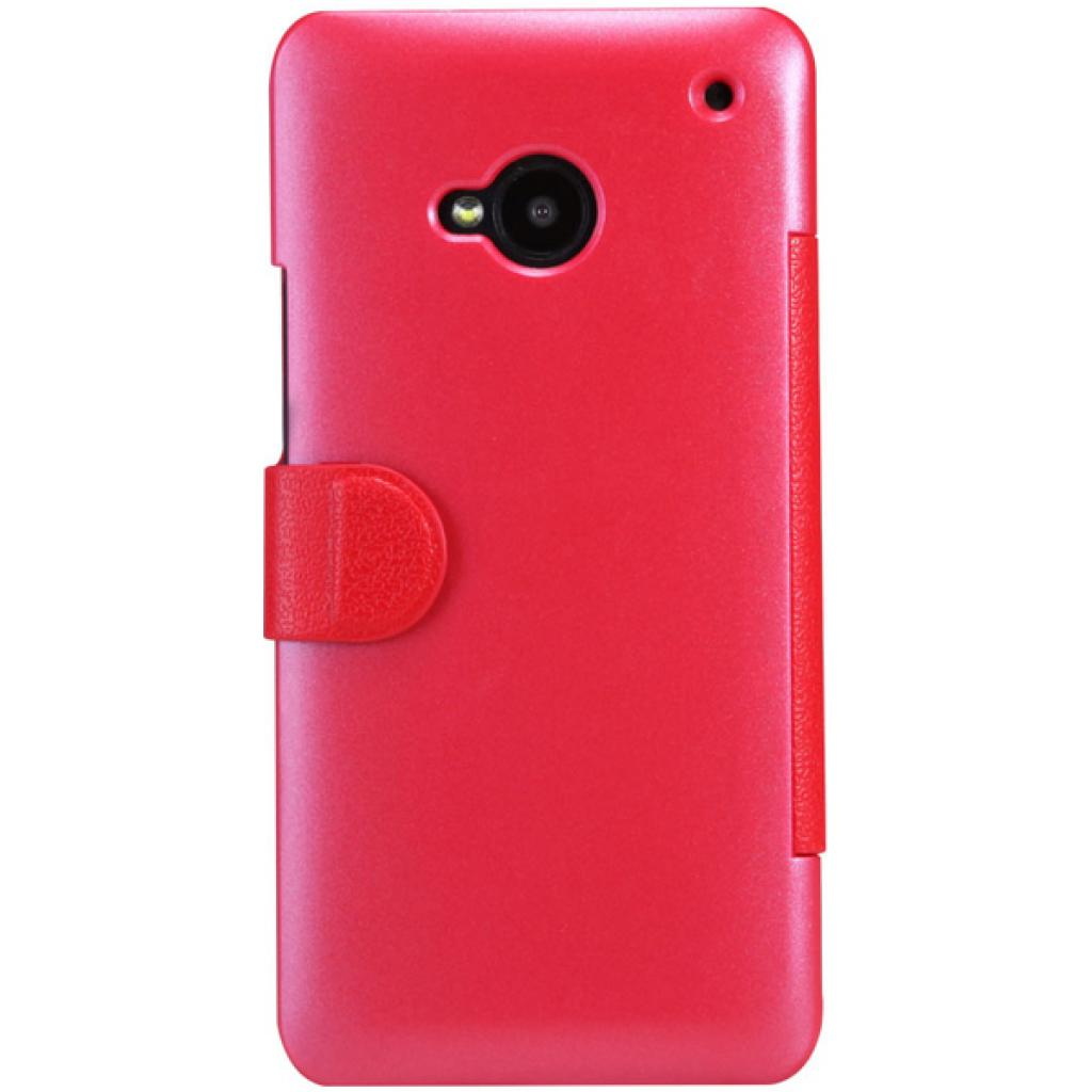 Чехол для моб. телефона NILLKIN для HTC ONE/M7- Fresh/ Leather/Red (6076833) изображение 2