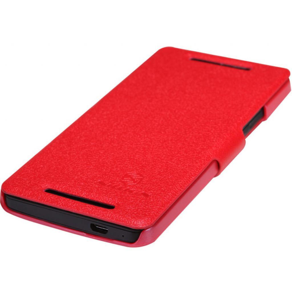 Чехол для моб. телефона NILLKIN для HTC ONE/M7- Fresh/ Leather/Red (6076833) изображение 4