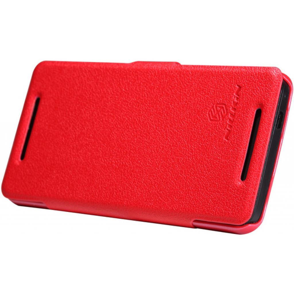 Чехол для моб. телефона NILLKIN для HTC ONE/M7- Fresh/ Leather/Red (6076833) изображение 5